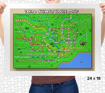Super Mario World Tokyo Train Map