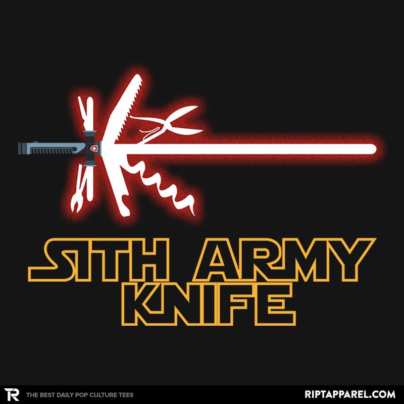 Detail View of T-Shirt - Sith Army Knife