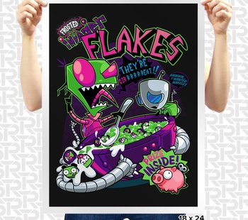 Invader Flakes Poster