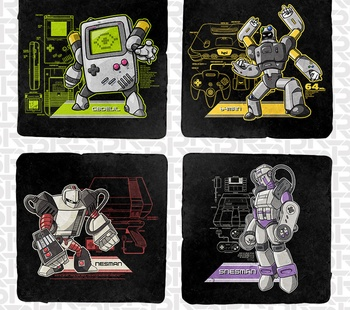 Console Masters 4-Coaster Set