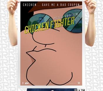 Chicken Fighter Poster