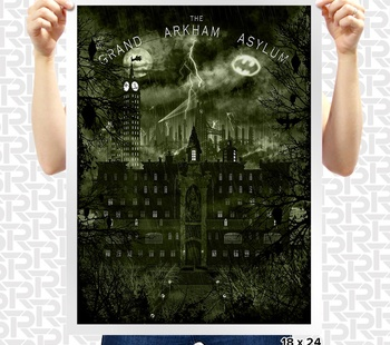 The Grand Arkham Asylum Poster