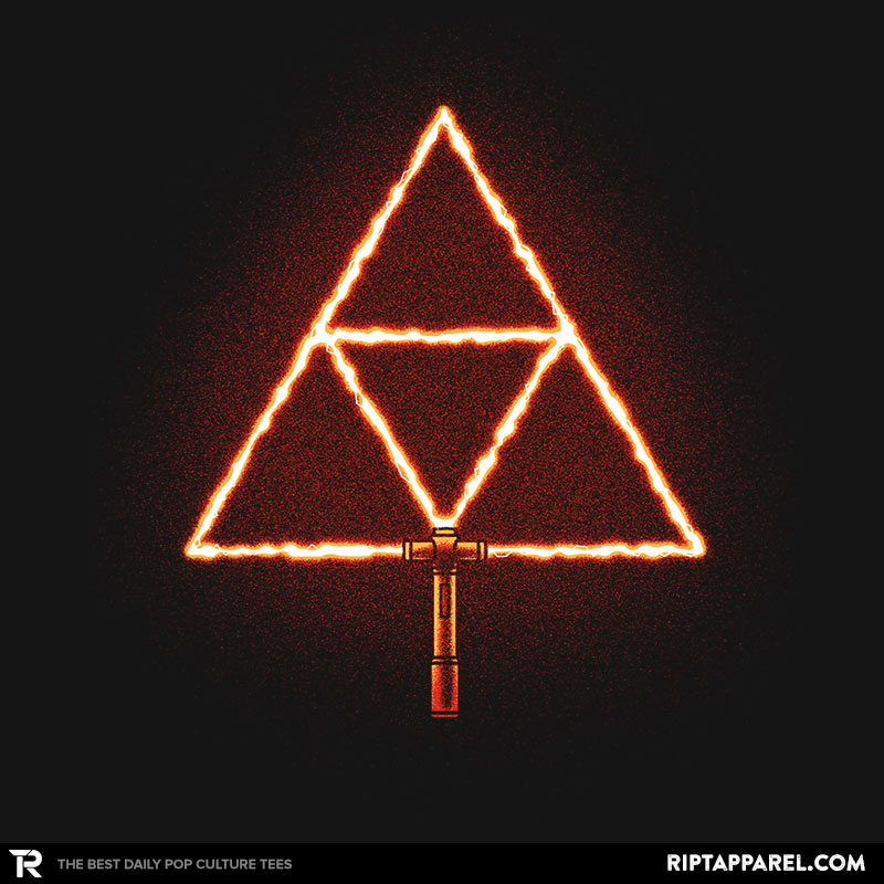Detail View of T-Shirt - Triforce Sabre!