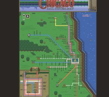 Zelda III Chicago L Train Map
