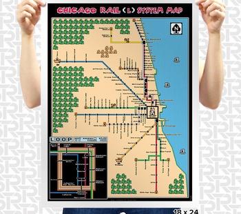 Super Mario 3 Chicago L Train Map