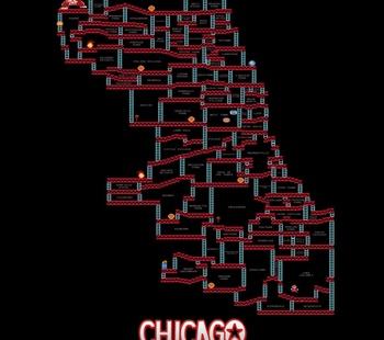 Donkey Kong Chicago Neighborhood Map