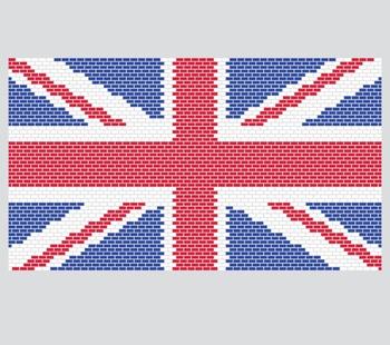 UK Union Jack Mario Bricks Flag