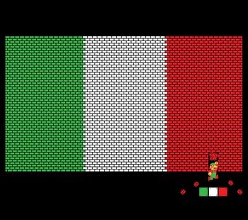 Italy Mario Bricks Flag