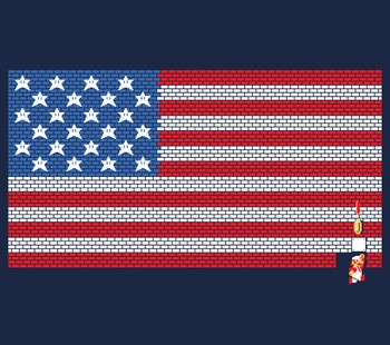 USA Mario Bricks Flag