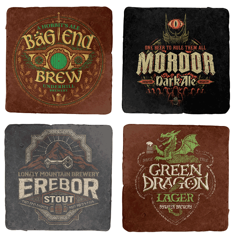 Middle Earth Brews Coaster Set
